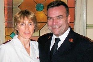 Majors Brendan and Sandra Nottle.