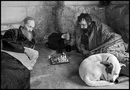 homeless chess